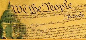 Cartoon version of the Preamble of the American Constitution.