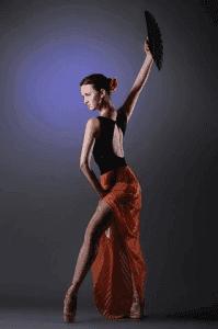 Spanish dancer.