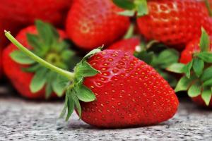 A healthy strawberry.