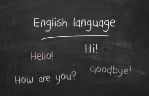 Basic English phrases.