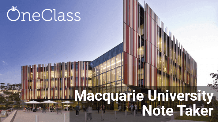 Become a Paid Macquarie Note Taker