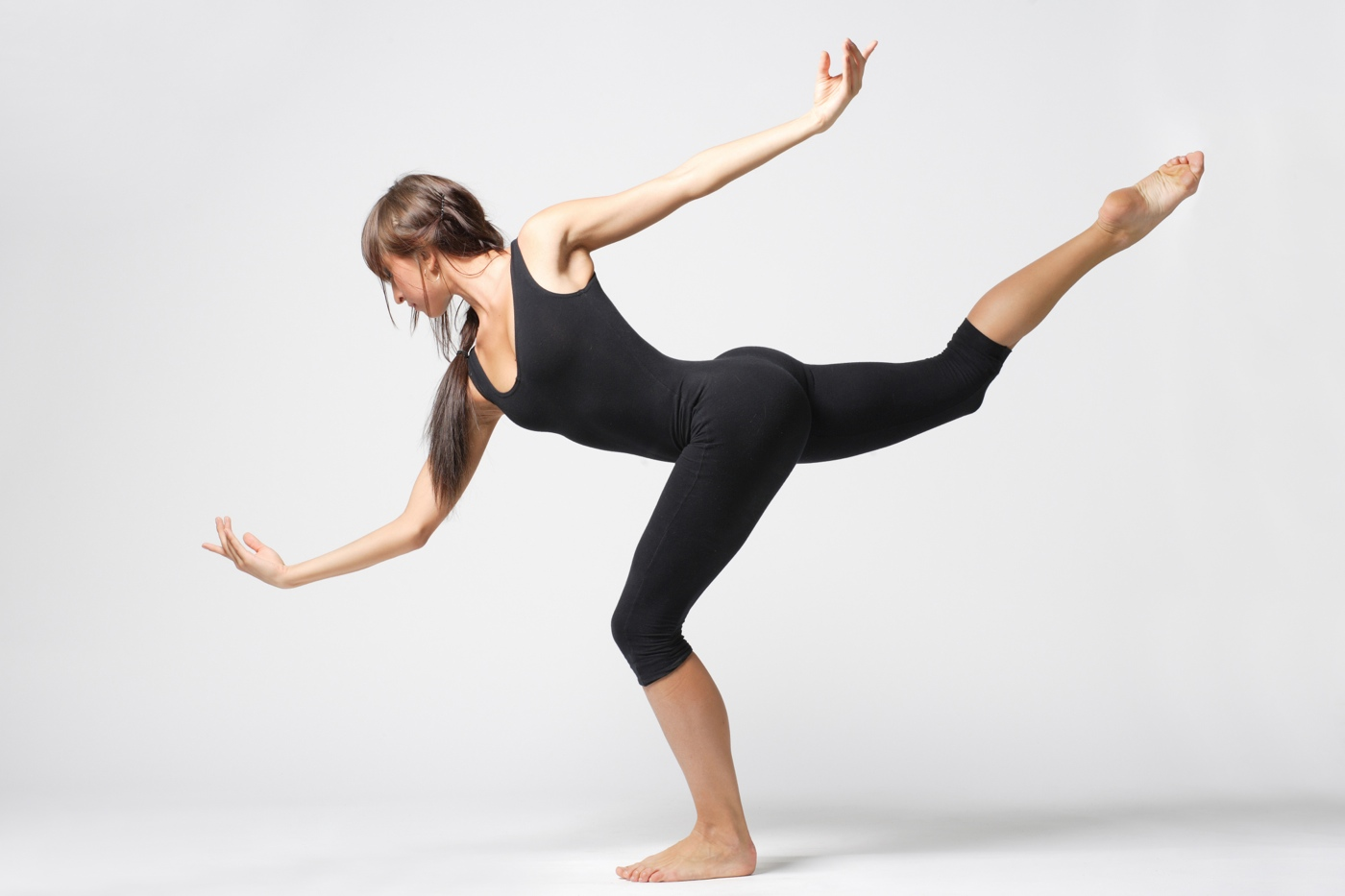 Woman gracefully dancing