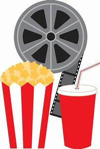 Photo of reel, popcorn and drink