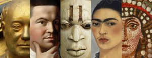 An image depictingprominent figures in art