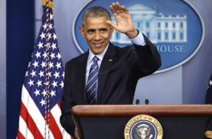 Pictured: President Obama waving