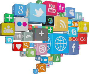 An image of social media icons