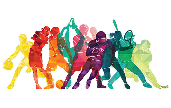 Image of different people playing variety of sports
