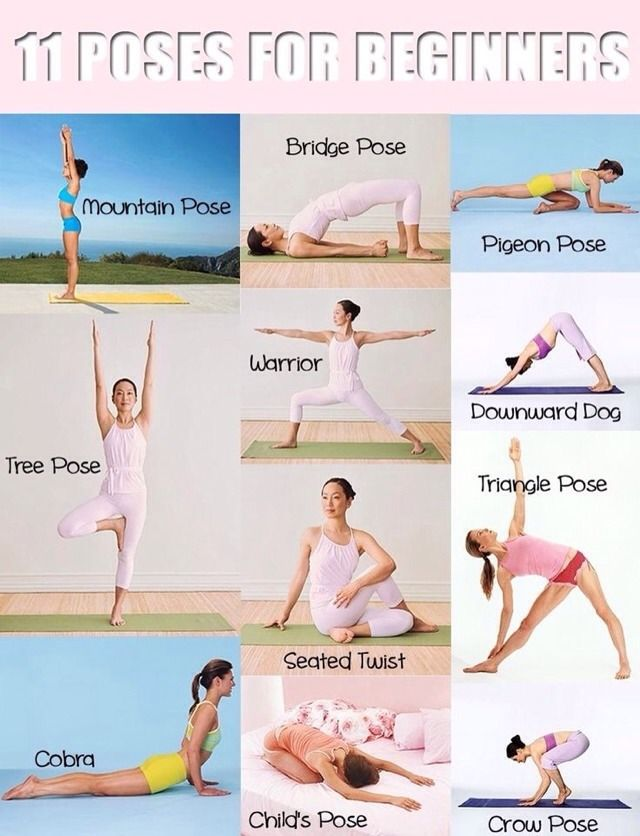 11 yogaposes for beginners.