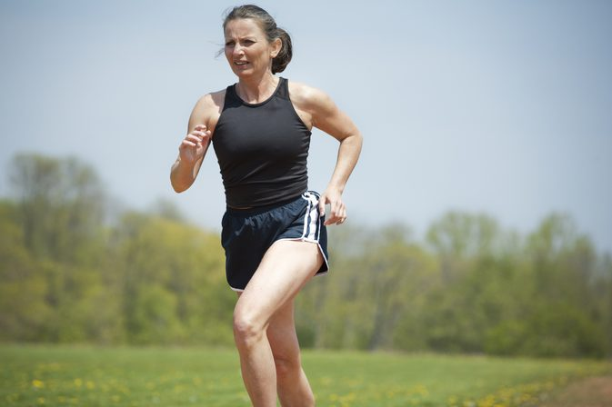 An image of a woman jogging.