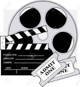 Film reel with tickets