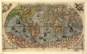 A map of the globe