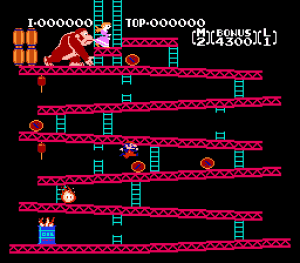 Early version of a Mario game