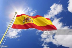 Pictured: the flag of Spain