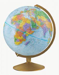 Pictured: a globe