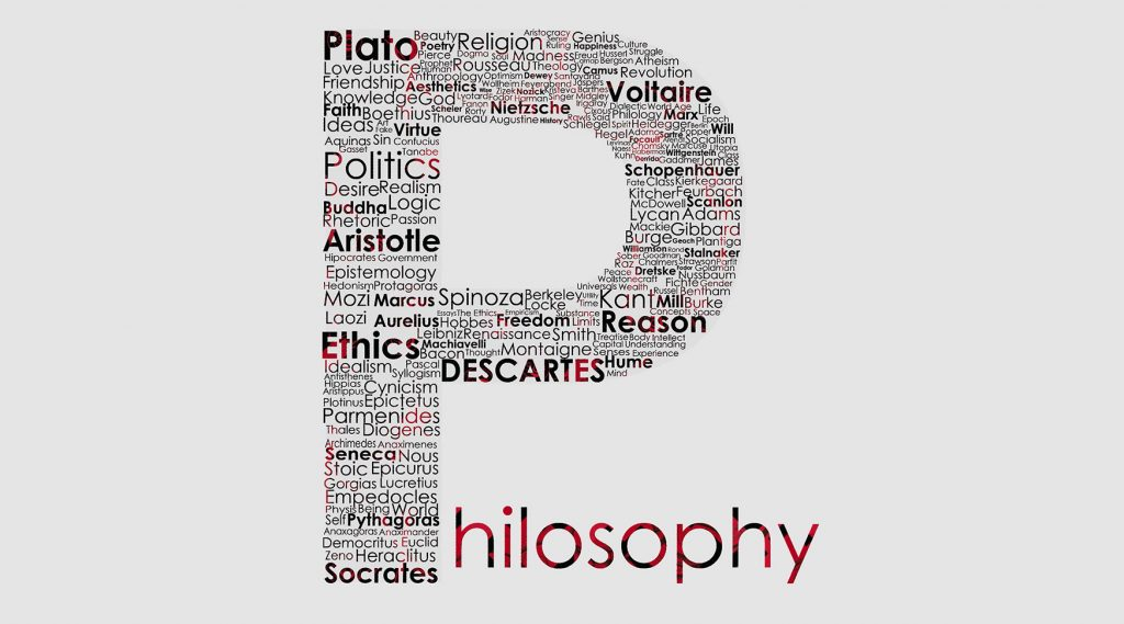 An image of the word philosophy.