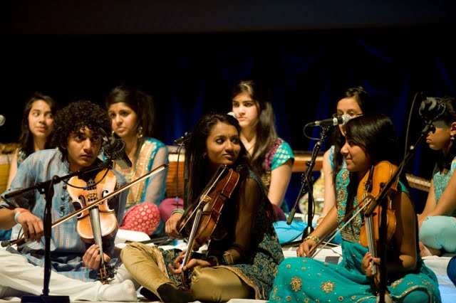 A class of Asian students incorporating North, South and West Indian music traditions with contemporary orchestral elements.