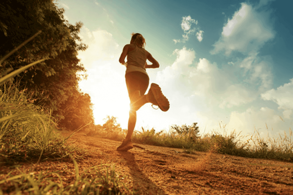 picture of person who is jogging on an outdoor path