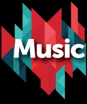 An image of the word music.