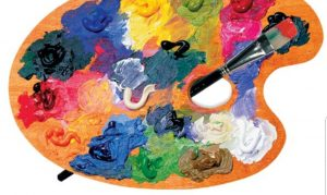 A picture of a paint palette.