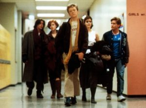 A scene from the Breakfast Club.