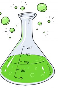 An illustration of a test tube used in chemistry.