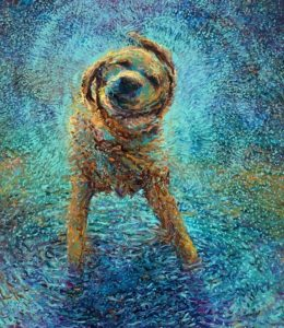 An abstract image of a dog.