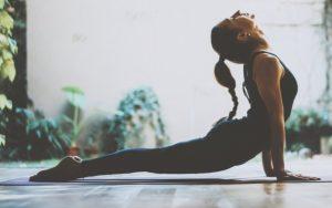 An image of a woman doing yoga.