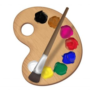 An image of a painter's palette.