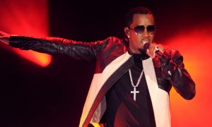 An image of Diddy performing.