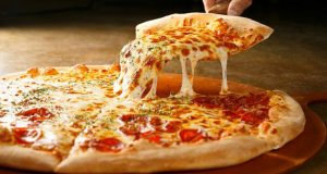 An image of a cooked pizza.
