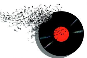 An image of a music record.