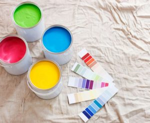An image of multiple paint jugs.