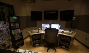 An inside look of a recording studio.