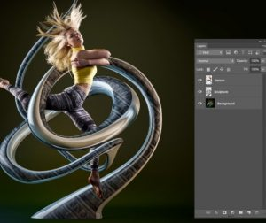 Image being edited in Photoshop.