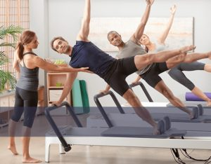 An image of a Pilates class.