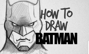 A representation of how to draw Batman.