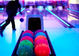 An image of a bowling alley.
