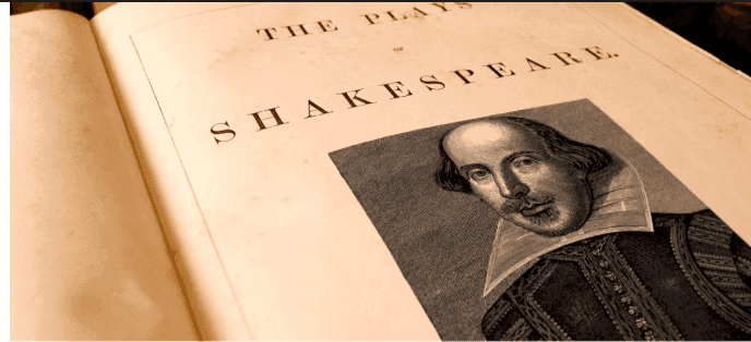 One of many large Shakespeare anthologies showcasing his plays.
