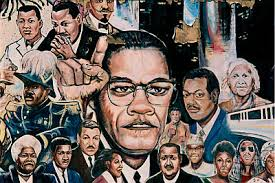 Black civil rights leaders collage