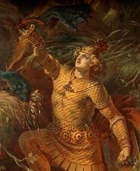 This is a representation of Beowulf, who is an influential character and story in pre-1800 literature.