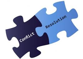 This image is of a puzzle piece, demonstrating that conflict and resolution go hand-in-hand.