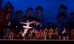 Ballet performance on stage