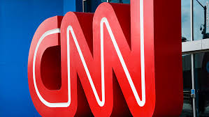 A picture of the CNN sign.