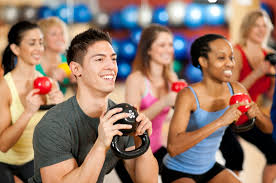 This is an image of a fitness class.