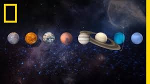 The planets in our galaxy in order.
