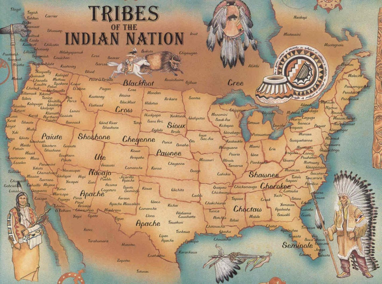 This image is of the Indian tribes in America in the past.