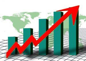 a cartoon graph of stock rates