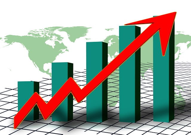 A bar chart showing economic growth