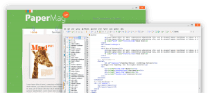 HTML code screenshot together with the html web page screenshot