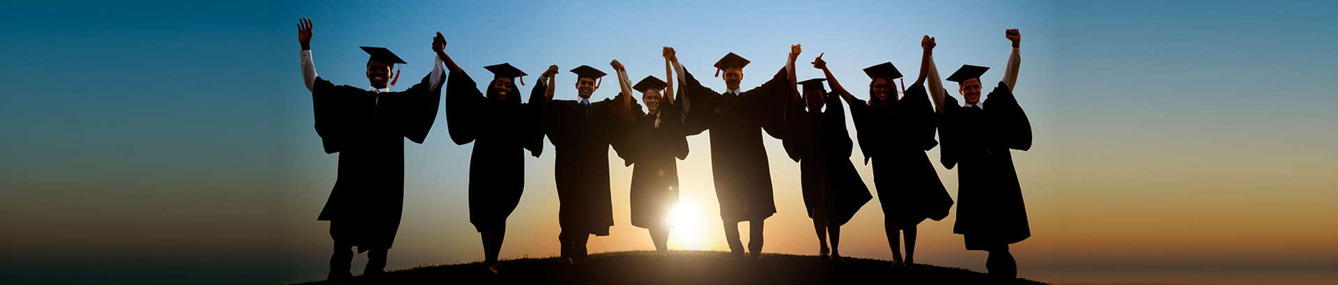 This is an image of students celebrating their education.